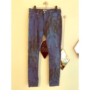 Fun patterned Hudson jeans